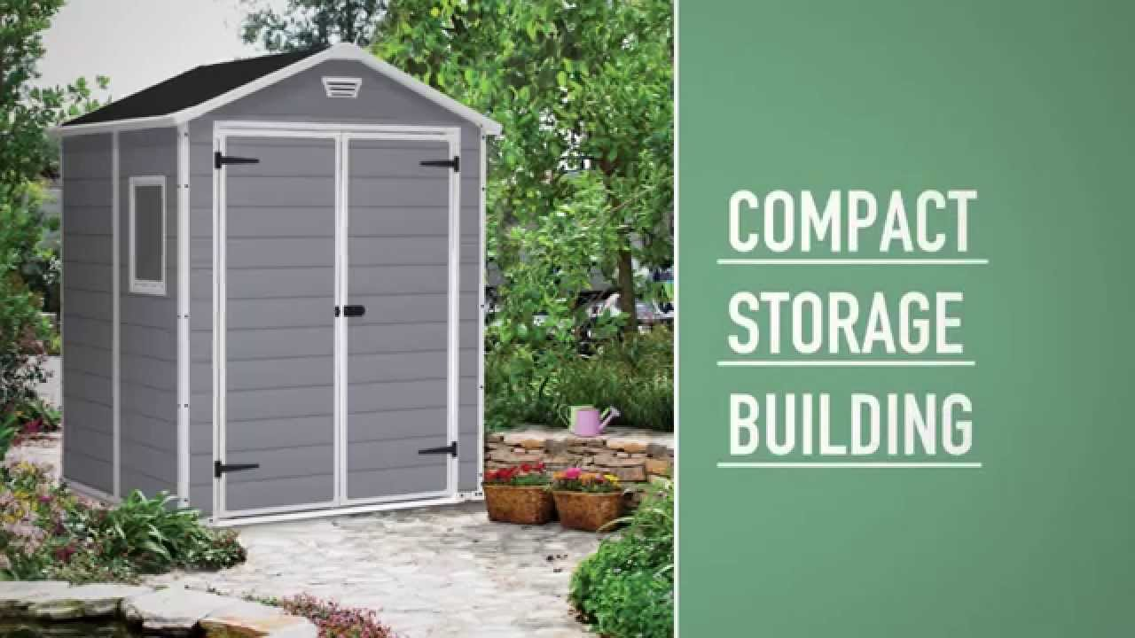 keter manor shed 6x5 youtube - Garden Sheds 6 X 5