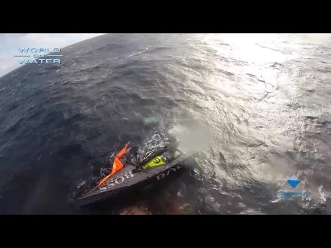 Capsize/Rescues in TJV in the World on Water Nov 1 World Sailing News Show. Alex Thompson rescued