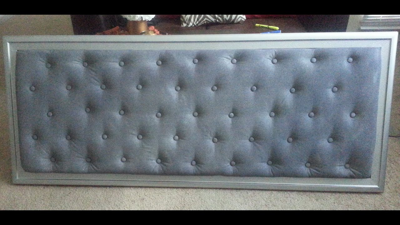 Diy tufted headboard youtube for Cool bed head ideas
