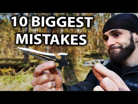 10 BIGGEST Beginner Knife Throwing Mistakes