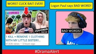 Logan Paul Says BAD WORD! #DramaAlert Fortnite Servers DDOS! WORST CLICK BAIT EVER!