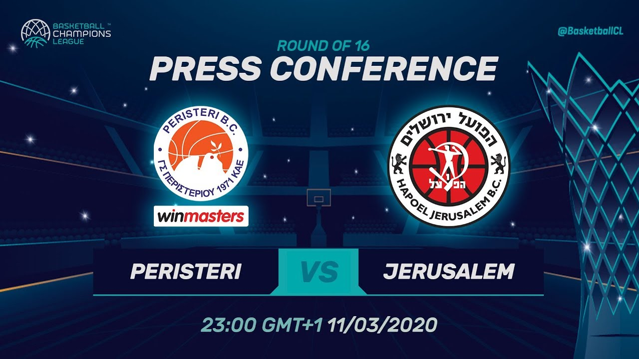 Peristeri winmasters v Hapoel Jerusalem - PC - RD 16 - Basketball Champions League 2019