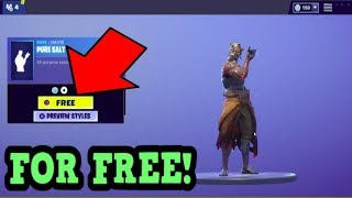HOW TO GET PURE SALT EMOTE FOR FREE! (Fortnite Old Emotes)