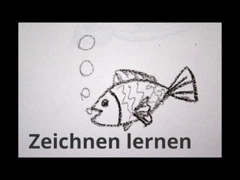 fisch malen f r kinder how to draw a fish. Black Bedroom Furniture Sets. Home Design Ideas