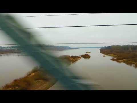 Вид из окна поезда - река Вятка (г.Котельнич, Кировская обл.)