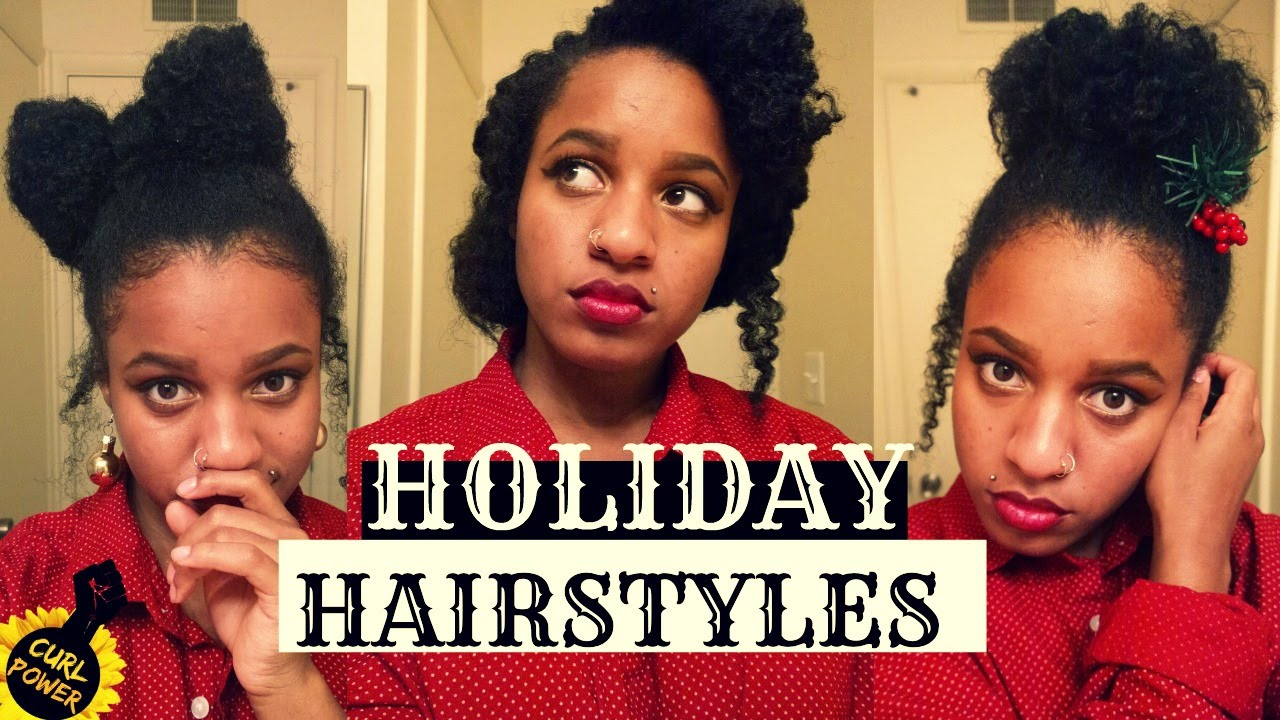 holiday winter hairstyles natural