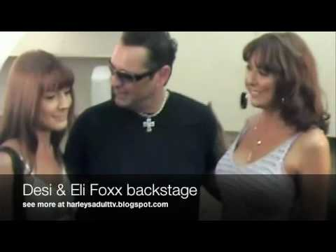 Real Life Mom and Daugher Desi & Elli Foxxx make out with Harley Fire Reality TV