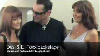 Real Life Mom and Daugher Desi & Elli Foxxx make out with Harley Fire Reality TV Thumbnail