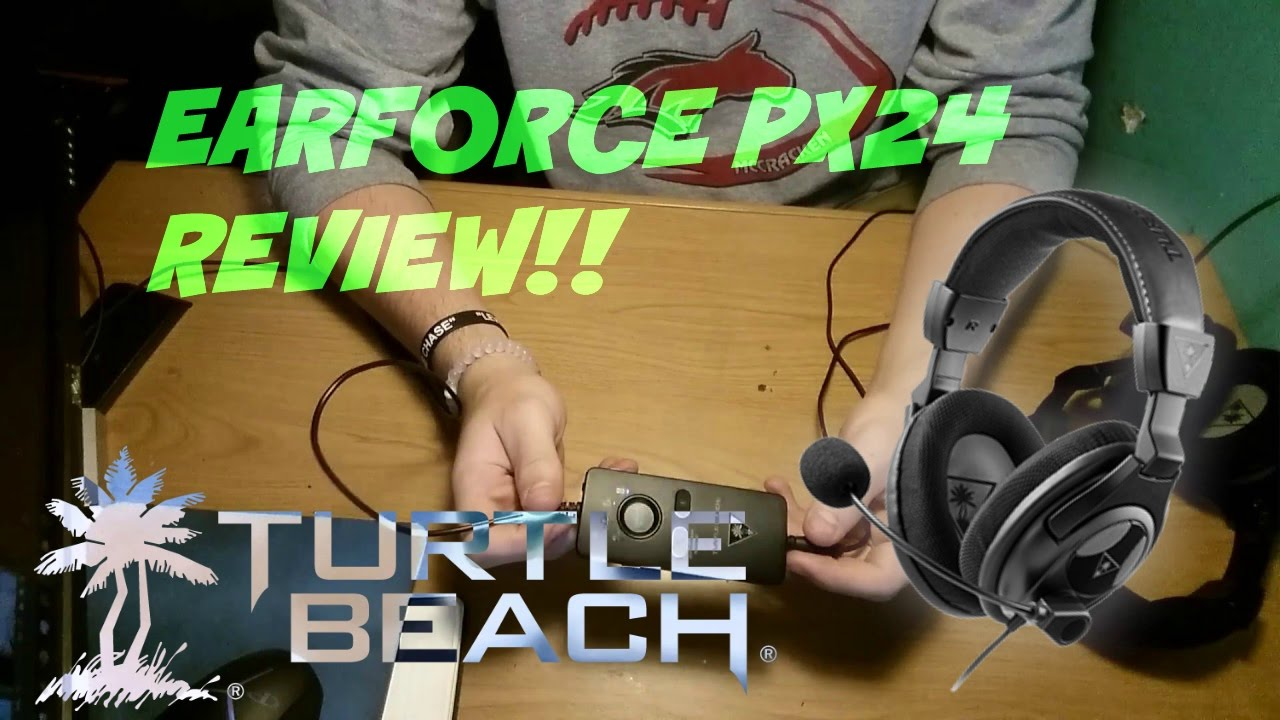 Turtle Beach - Ear Force PX24 REVIEW (mic test) - YouTube
