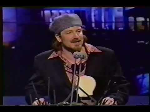 Bono/U2 accepts Free Your Mind award, 1994 MTV European Music Awards