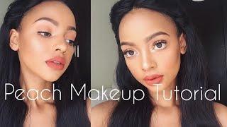 Summer Peach Makeup Tutorial | Soft Glam | MIHLALI N