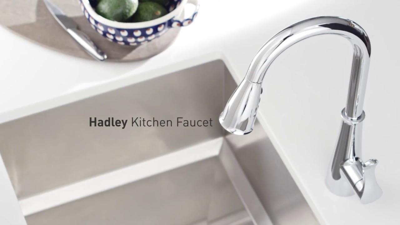 Moen Hadley Kitchen Faucet feat. Power Boost - YouTube