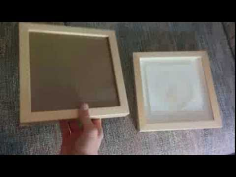 How To Turn A Frame Into A Shadow Box Concise Youtube