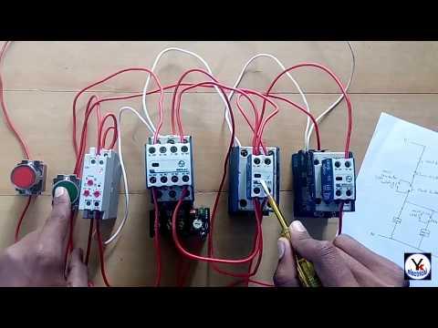 Star - Delta Starter Wiring With Diagram   Automatic Star-Delta Starter  Diagram   YK Electrical