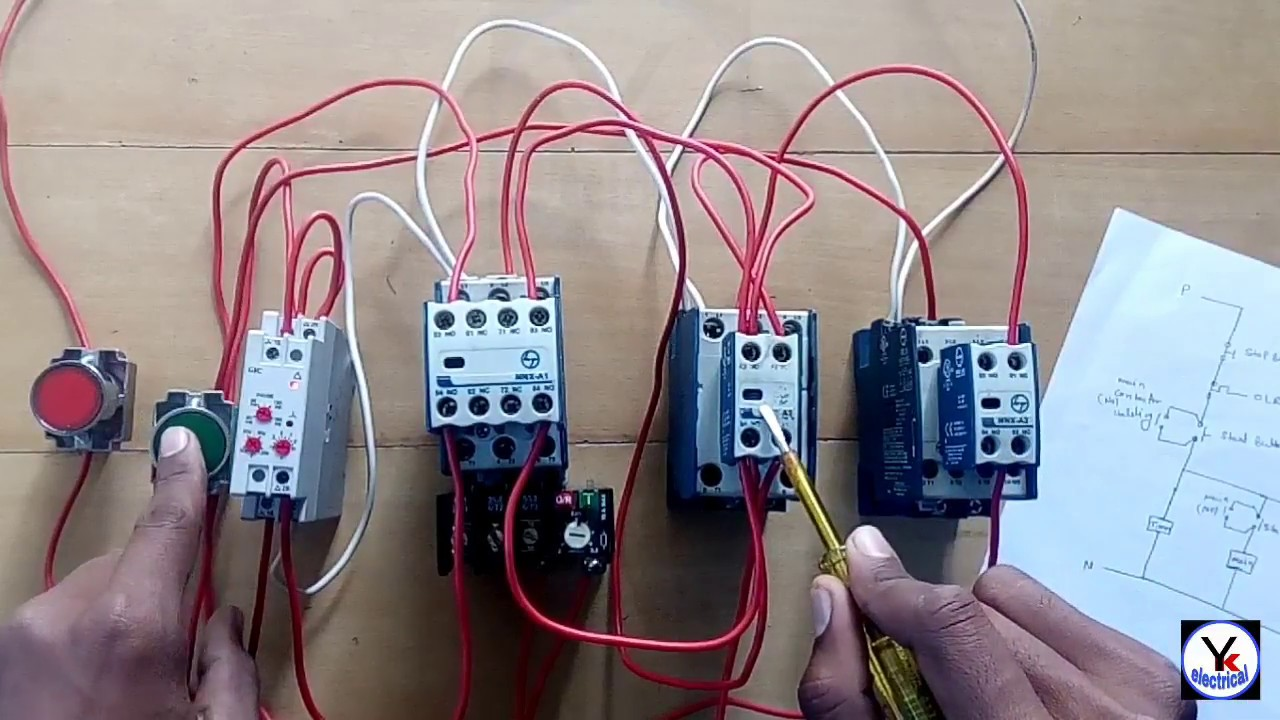 Wye Delta Starter Wiring Diagram 110cc Atv Star - With | Automatic Star-delta Yk Electrical ...