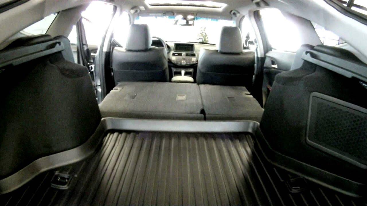 2012 crosstour cargo space 3 youtube for Honda accord cargo space