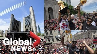 HIGHLIGHTS: Toronto Raptors, fans celebrate NBA championship with massive parade