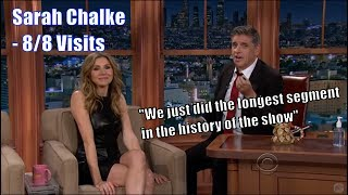 Sarah Chalke - Speaks Fluent French & German In A Leather Dress - 8/8 Visits In Chrono.Order