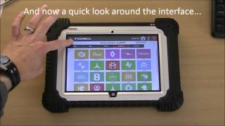 Foxwell GT80 Windows 8.1 Diagnostic Tablet - Interface Demonstration