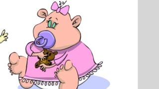 Niedlichen Cartoon-Baby-Mädchen