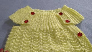 Knitting Sweater for 1 to 2 years Kid / Side Open Sweater (Part-1)