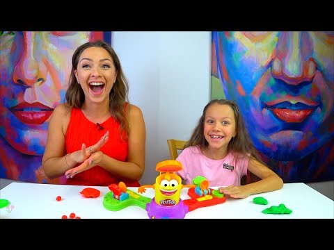 ЧЕЛЛЕНДЖ ПРЯМО В ЦЕЛЬ с Плей До CHALLENGE Play Doh Launch Game for kids /// Вики Шоу