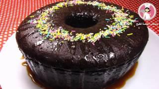 كيك أسفنجي بنكهة الشوكولا بدون فرن اسفنجية وطرية كالقطن مع رباح محمد ( الحلقة 204 )