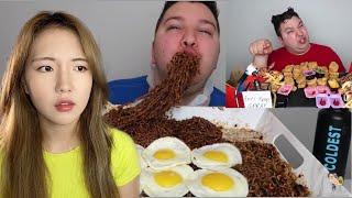 Korean Girl Reacts To NIKOCADO AVOCADO'S Korean Food Mukbangs