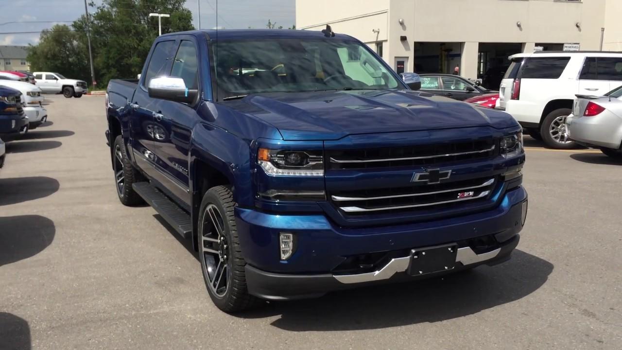 Blue Chevy Silverado >> 2017 Chevrolet Silverado 1500 Ltz Crew Cab Deep Ocean Blue Metallic Roy Nichols Motors Courtice On