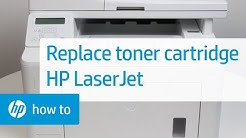 Replacing the Toner Cartridge on HP LaserJet Printers | HP LaserJet | HP