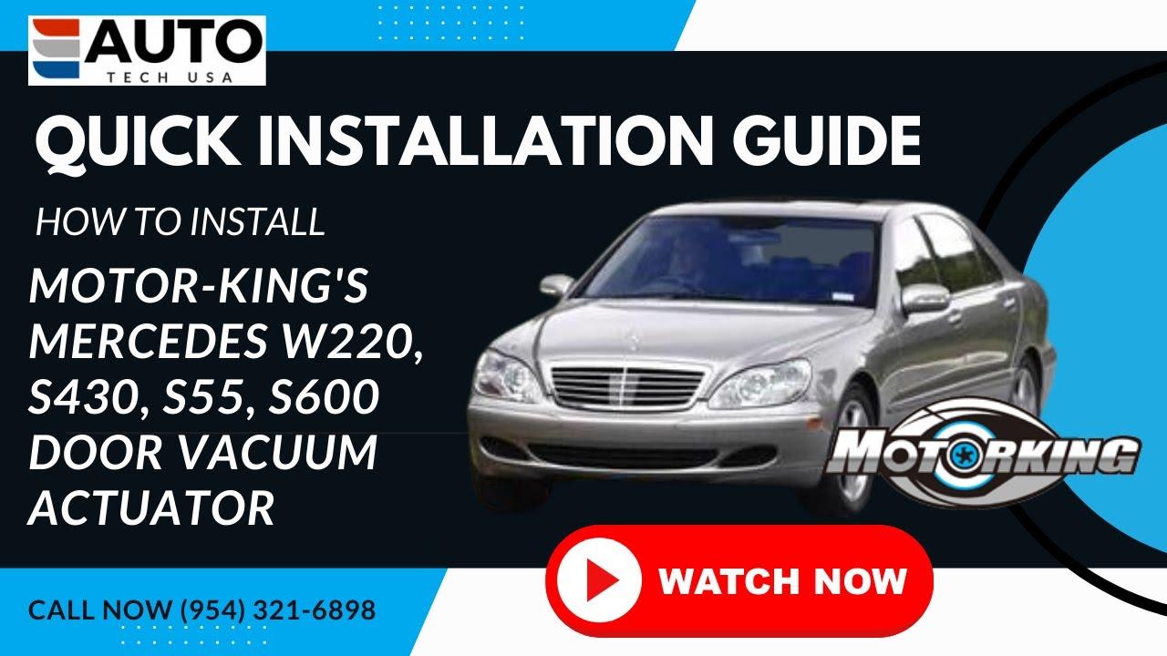 Door Lock Vacuum Actuator Repair Kit Video for Mercedes W220 S430 S55 S600