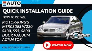 Door Lock Actuator Motor Repair For Mercedes Benz W220 S430 S500 S55