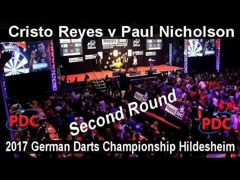 2017 German Darts Championship Hildesheim Cristo Reyes v Paul Nicholson | Second Round