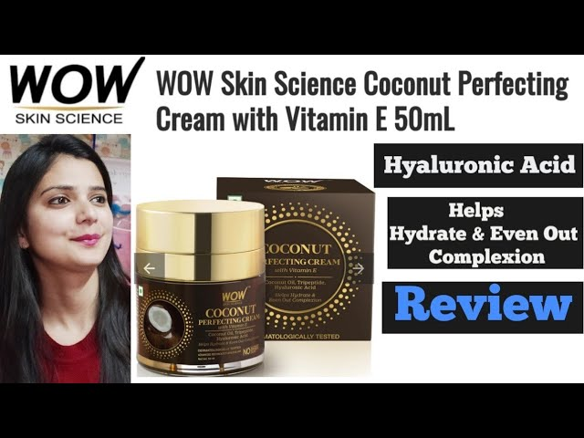 WOW Skin Science Coconut Perfecting Cream With Hyaluronic Acid and Vitamin E