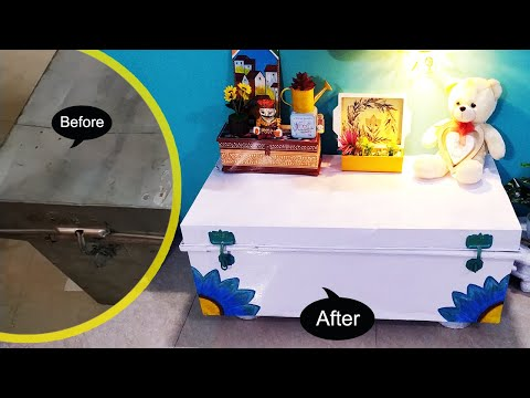 Metal Trunk Makeover | Simple Way | DIY | Budget Friendly | Home Decor