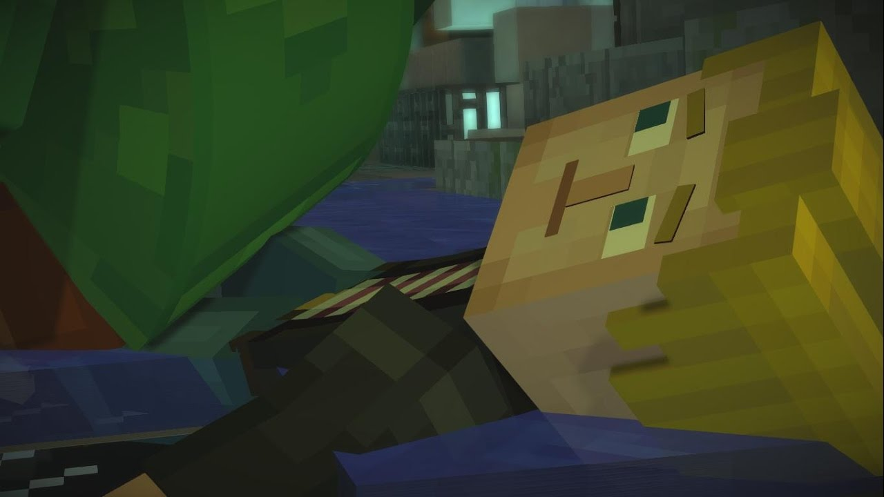 Minecraft Story Mode Every Time Axel Falls Onto Lukas Youtube