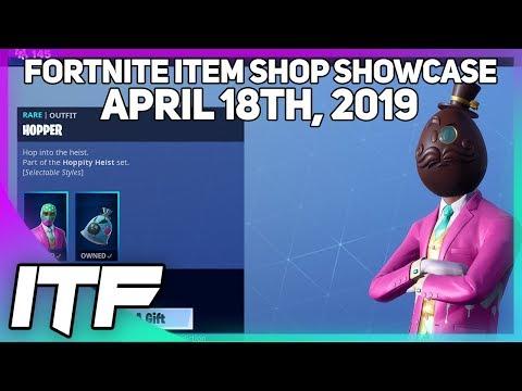 Fortnite Item Shop *NEW* HOPPER SKIN AND WRAP! [April 18th, 2019] (Fortnite Battle Royale)