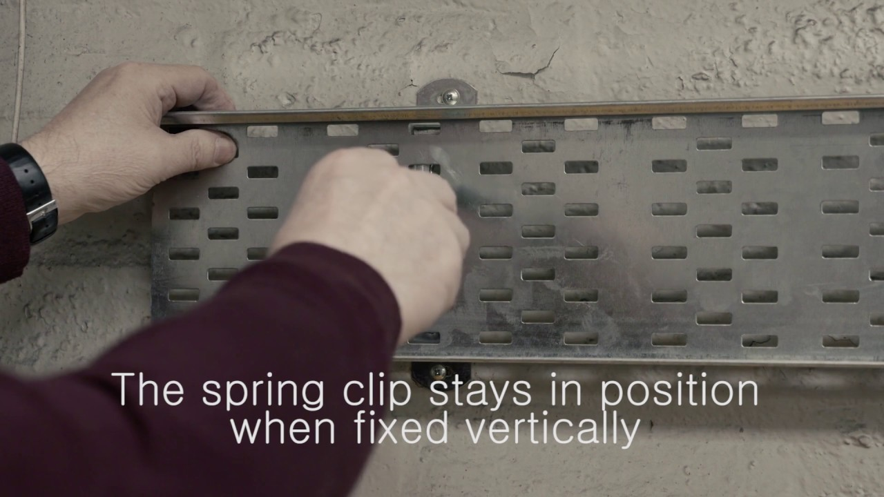 How To Use Cable Tray Stand Off Brackets From Haley