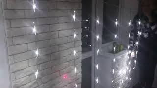 Обзор гирлянда водопад LED 240 белая