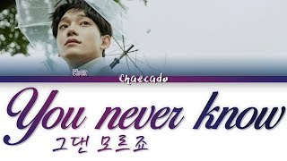 You never know (그댄 모르죠) - CHEN (첸) | Color Coded Lyrics/가사 | Han/Rom/Eng