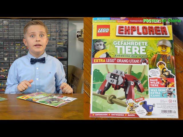 Meister der Steine, Lego, Explorer, Gefährdete Tiere, August 2021, Nr. 9/2021