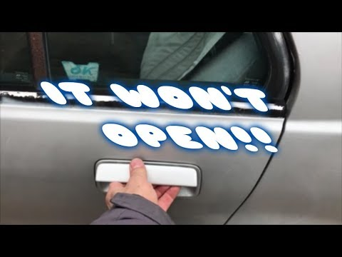 How to fix a stuck rear door on a Honda Civic EF Sedan 88-91 (2018)