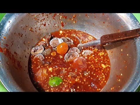 น้ำยำฉ่ำแดงสดน่าทาน ร้านป้ากบยำ3แซบ แยกประจวบ รอคุณอยู่ทุกวันนะ Yum Spicy Seafood Salad by Pakob