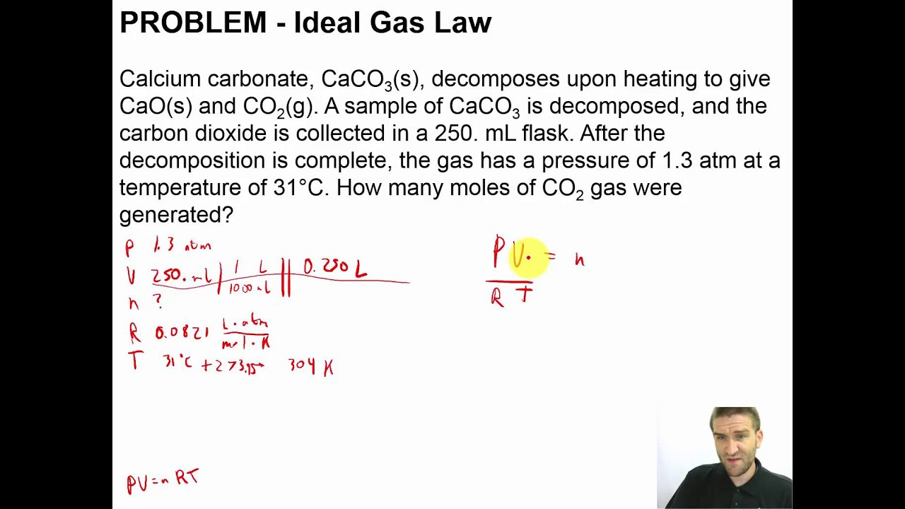 Chapter 11 - 13 - PROBLEM - Ideal Gas Law - YouTube