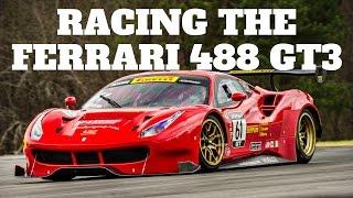 Driving the Ferrari 488 GT3 Race Car