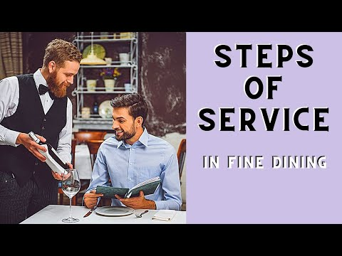 Steps Of Service: Fine Dining F&B Waiter Training. Food And Beverage Service How To Be A Good Waiter
