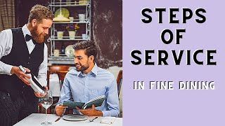 Fine Dining Restaurant Service Sequence! Waiter training. Food service. Steps of service.