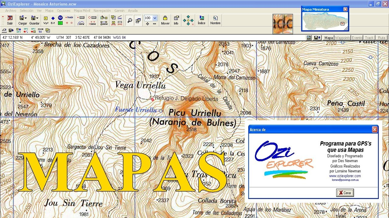 mappe oziexplorer