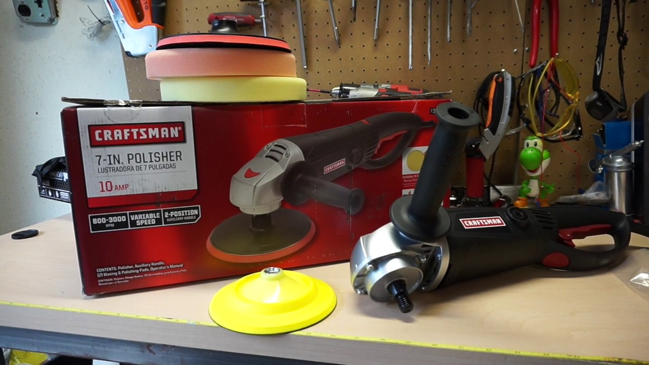 Craftsman 7 10a Rotary Polisher Unboxing