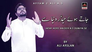 Jatay Hoye Haider Duniya Se - Ali Arslan   Noha Shahadat Mola Ali - Noha Mola Ali A.S - Ayyam E Ali